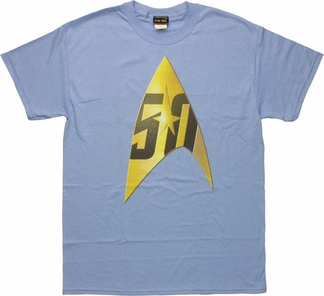 Star Trek 50th Anniversary Delta Blue T-Shirt