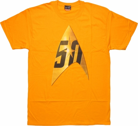 Star Trek 50th Anniversary Delta Gold T-Shirt