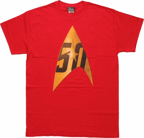 Star Trek 50th Anniversary Delta Red T-Shirt