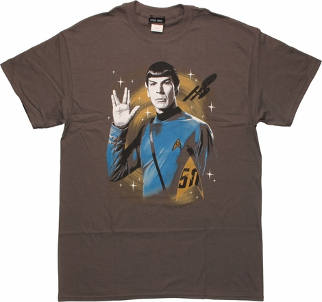 Star Trek 50th Spock Live Long and Prosper T-Shirt
