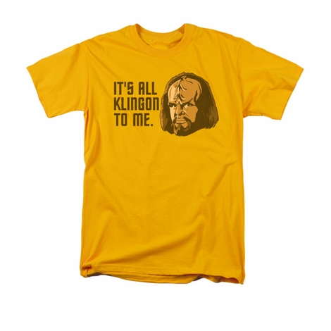 Star Trek All Klingon T Shirt