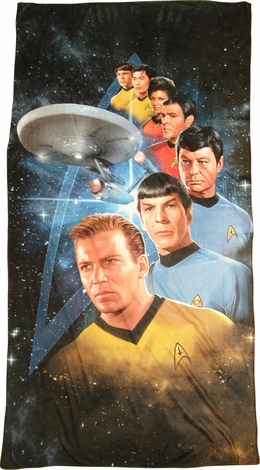 Star Trek Among Stars Sublimated Beach Towel