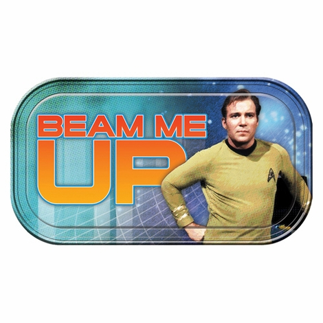 Star Trek Beam Me Up Tin Sign