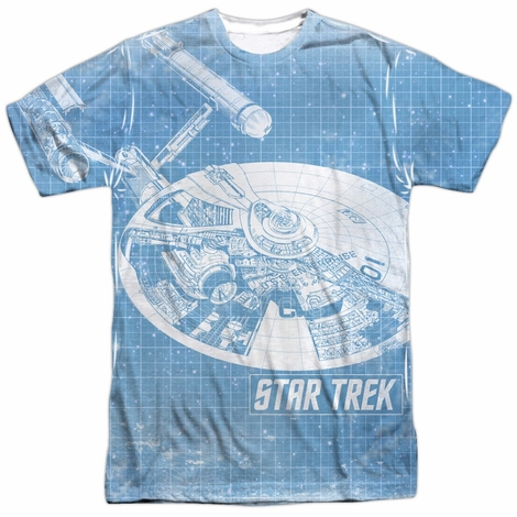 Star Trek Blueprint Sublimated T Shirt