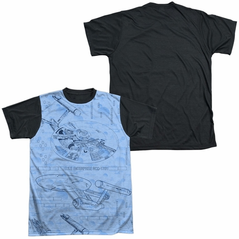 Star Trek Blueprints BB Sublimated T Shirt