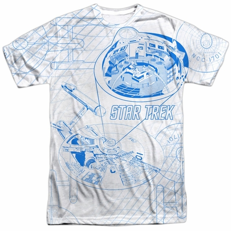 Star Trek Bridge Zoom Sublimated T Shirt