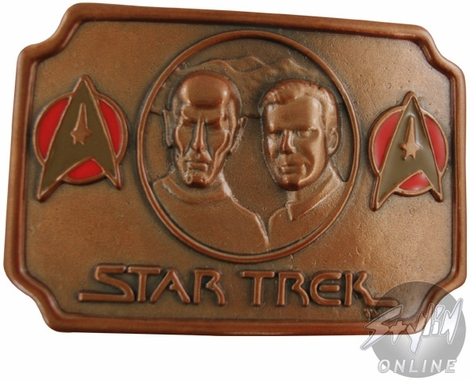 Star Trek Kirk Spock Busts Belt Buckle