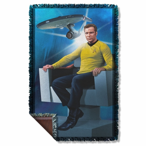 Star Trek Captain's Chair Throw Blanket