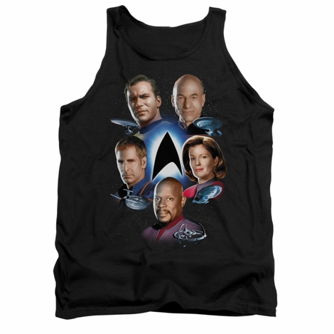Star Trek Captains Around Logo Tank Top