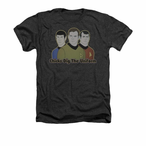 Star Trek Chicks Dig Uniform Heather T Shirt