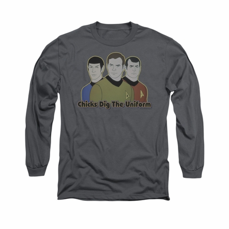 Star Trek Chicks Dig Uniform Long Sleeve T Shirt