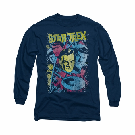 Star Trek Classic Comic Crew Long Sleeve T Shirt