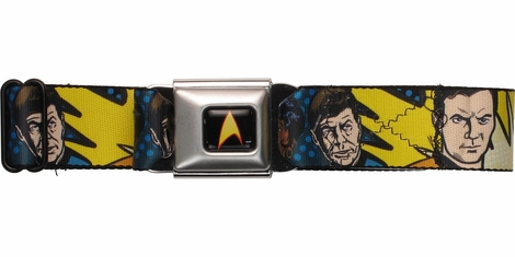 Star Trek Comic Book Cast Seatbelt Mesh Belt