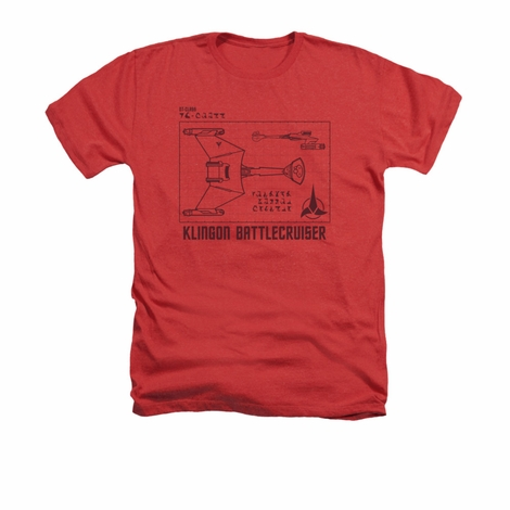 Star Trek D7 Diagram Heather T Shirt