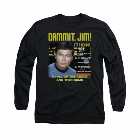 Star Trek Dammit Jim Long Sleeve T Shirt