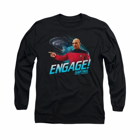 Star Trek Engage Long Sleeve T Shirt