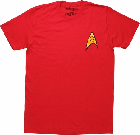 Star Trek Engineering Logo Red Mighty Fine T-Shirt