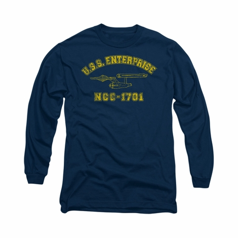 Star Trek Enterprise Athletic Long Sleeve T Shirt
