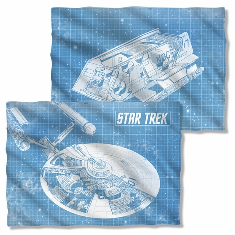 Star Trek Enterprise Blueprint FB Pillow Case