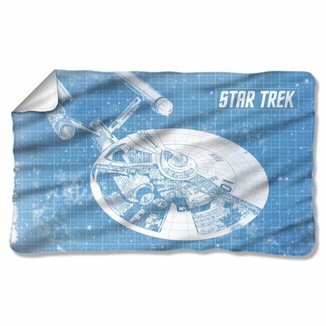 Star Trek Enterprise Blueprint Fleece Blanket