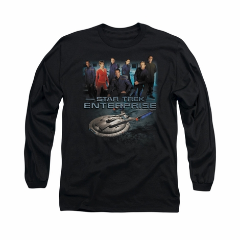 Star Trek Enterprise Crew Long Sleeve T Shirt