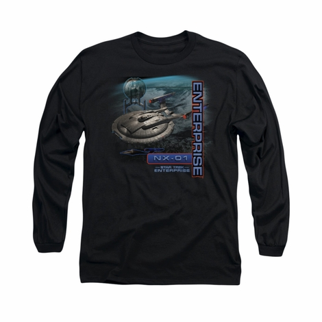 Star Trek Enterprise NX 01 Long Sleeve T Shirt
