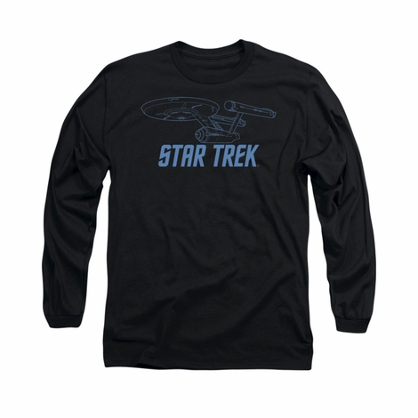 Star Trek Enterprise Outline Long Sleeve T Shirt