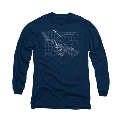 Star Trek Enterprise Prints Long Sleeve T Shirt