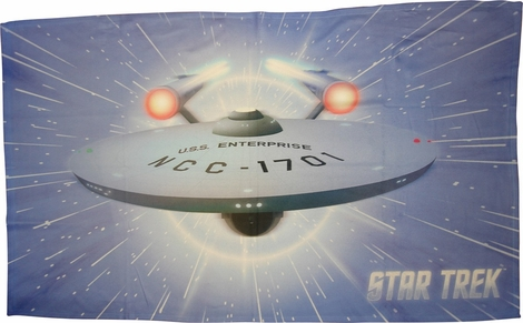 Star Trek Enterprise Warp Sublimated Fleece Blanket