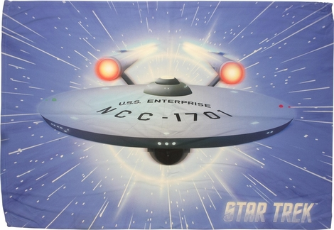 Star Trek Enterprise Warp Sublimated Pillow Case