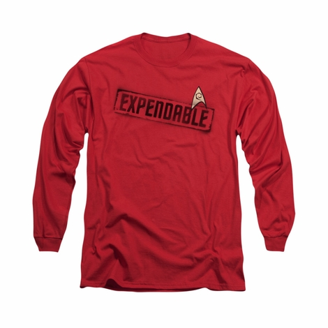 Star Trek Expendable Red Long Sleeve T Shirt