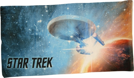Star Trek Final Frontier Sublimated Beach Towel
