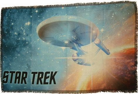 Star Trek Final Frontier Sublimated Woven Throw Blanket