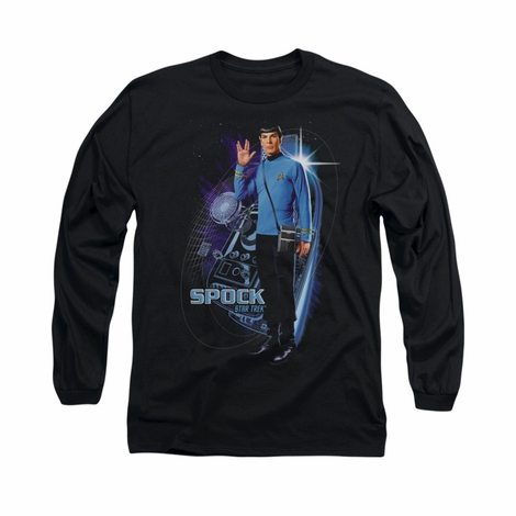 Star Trek Galactic Spock Long Sleeve T Shirt