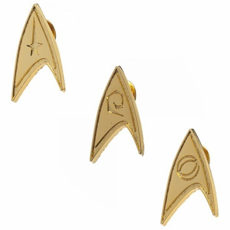 Star Trek Insignia Pin Set