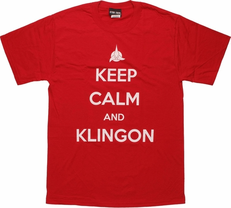 Star Trek Keep Calm Klingon T Shirt