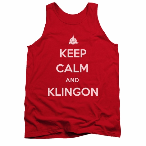 Star Trek Keep Calm Klingon Tank Top