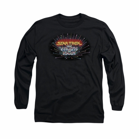 Star Trek Khan Logo Long Sleeve T Shirt