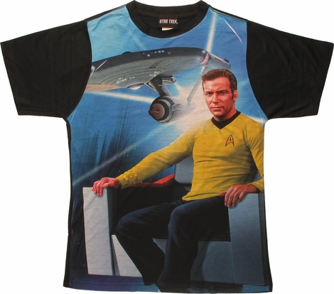 Star Trek Kirk Enterprise BB Sublimated T Shirt