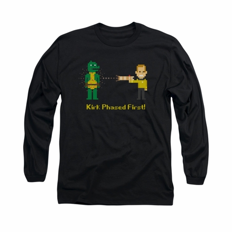 Star Trek Kirk Phased First Long Sleeve T Shirt
