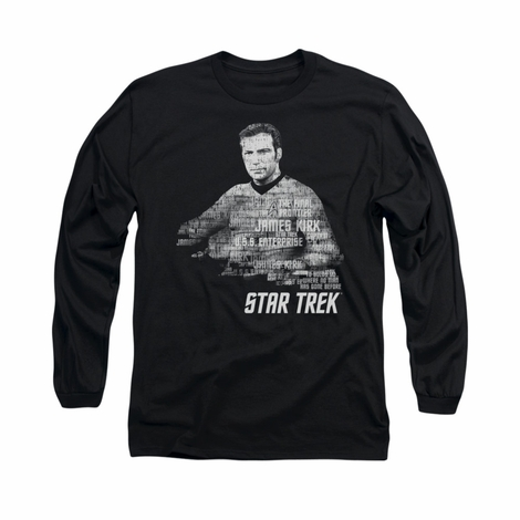 Star Trek Kirk Words Long Sleeve T Shirt