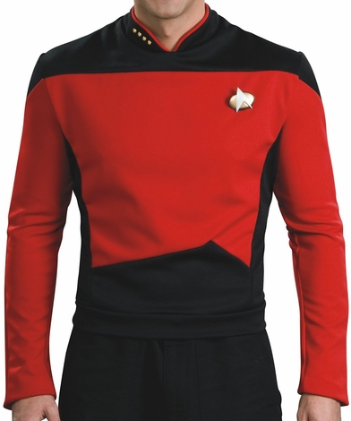 Star Trek Next Generation Command Deluxe Costume Shirt