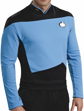 Star Trek Next Generation Sciences Deluxe Costume Shirt