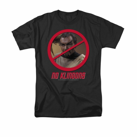 Star Trek No Klingons T Shirt