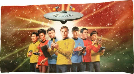 Star Trek Original Crew Sublimated Beach Towel