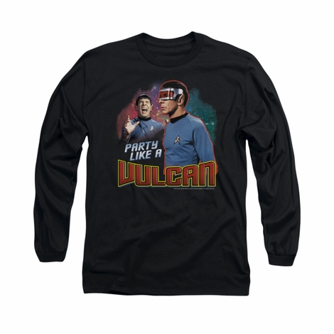 Star Trek Party Like a Vulcan Long Sleeve T Shirt