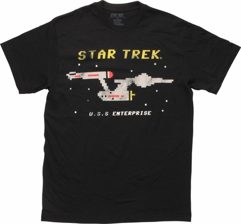Star Trek Pixel Enterprise T-Shirt