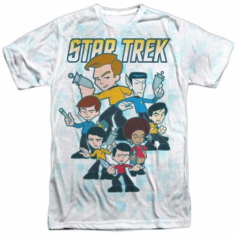 Star Trek Quogs Crew Sublimated T Shirt