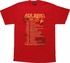 Star Trek Red Shirt Galactic Tour T Shirt
