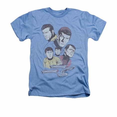 Star Trek Retro Crew Heather T Shirt
